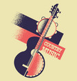 country music background with musical instruments vector image vector image