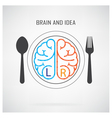 Creative left brain and right brain Idea concept b vector image vector image