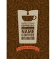 design label for coffee beans vector image vector image