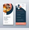 dl flyer design coral business template vector image vector image