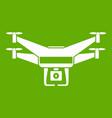 drone video camera icon green vector image vector image