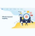 effective keyword targeting tools mockup landing vector image