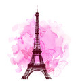 eiffel tower and butterfly vector image