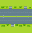 empty highway top view road asphalt vector image vector image