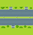 empty highway top view road asphalt with vector image