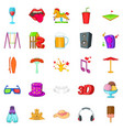 family fun icons set cartoon style vector image vector image