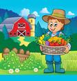 farmer topic image 5 vector image vector image