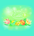 festive 3d ground happy easter easter vector image vector image