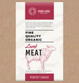 fine quality organic lamb abstract meat vector image