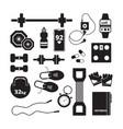 fitness icon sport healthy symbols aerobics vector image