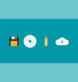 flat evolution of storage devices vector image