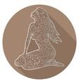 Flat icon of zodiac sign Virgo vector image vector image