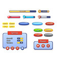 game user interface templates vector image