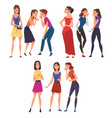 girl friends gossiping and giggling behind the vector image vector image