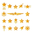 gold stars for logos and emblems vector image vector image