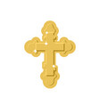 golden cross isolated orthodox symbol of gold vector image vector image