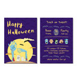 halloween party invitation with monster hands vector image vector image