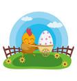 happy easter hen vector image