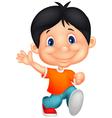 Happy little boy cartoon vector image vector image