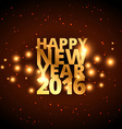 happy new year in golden style vector image vector image
