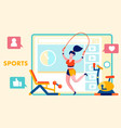 healthy lifestyle fitness blog flat vector image vector image