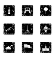 Holiday in Russia icons set grunge style vector image vector image