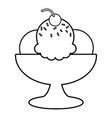 ice cream icon outline line style vector image vector image