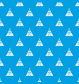 indian tent pattern seamless blue vector image vector image