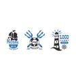 marine logo design templates set nautical retro vector image vector image