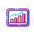 marketing graph linecolor vector image vector image