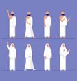 modern flat hajj pilgrimage character vector image