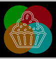 muffin - cupcake dessert vector image vector image