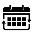 office calendar icon simple style vector image
