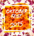 patch with checkered pattern and text Oktoberfest vector image