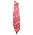 pink striped tie icon isometric style vector image vector image