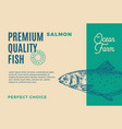 premium quality salmon abstract fish vector image vector image