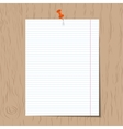 Realistic lined notebook paper vector image