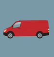 red cargo business van mock up for brand and vector image vector image