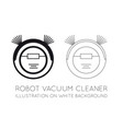 robot vacuum cleaner on a white background vector image