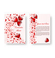 romantic brochure with red hearts vector image vector image