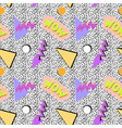 seamless memphis pattern vector image