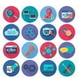 Seo Marketing Icons Flat vector image