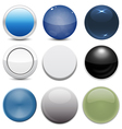Set of 9 Button Styles vector image