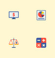 set of analytics icons flat style symbols with vector image