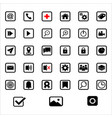 signs and symbol app vector image vector image