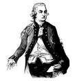 sir henry clinton vintage vector image vector image