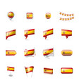 spain flag on a white vector image