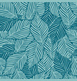 summer nature jungle print exotic plant tropical vector image vector image