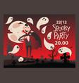 vampire style halloween party invitation vector image