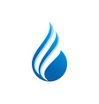 water drop abstract logo vector image vector image